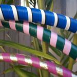 3 hoops against palm tree - close up